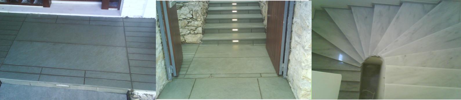 Τοποθετήσεις μαρμάρων - επενδύσεις σκάλας